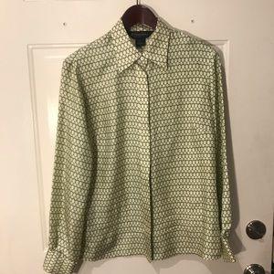 Silk Brooks Brothers Button Up Shirt